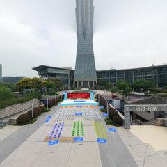西湖文化广场现场布置 展位效果全景图